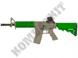 CM517 Electric Airsoft Rifle M4 Short RIS AEG BB Machine Gun Alloy Gear Box Tan & 2 Tone